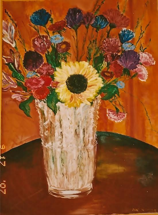 Sun Flower, by Gabrielle Anderson (Teacher)